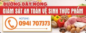 Hotline giám sát vệ sinh an toàn thực phẩm